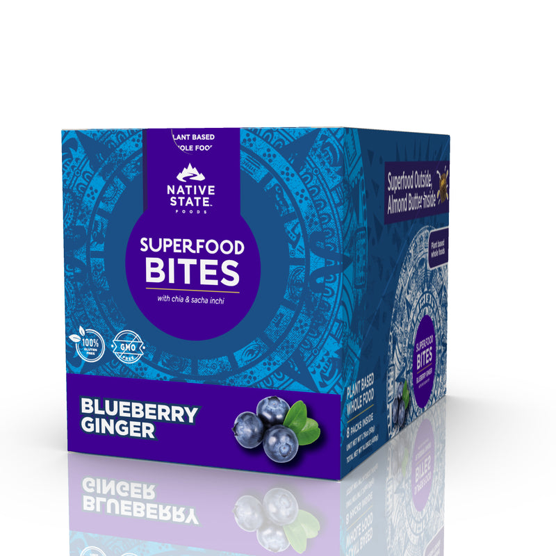 Ancient Superfood Bites, Blueberry Ginger