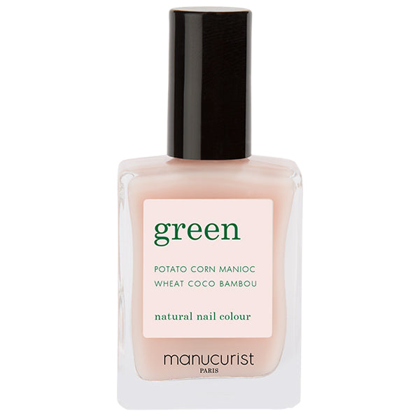 Green nail lacquer - Pale Rose