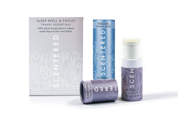 Scentered - TRAVEL ESSENTIALS AROMATHERAPY BALM DUO