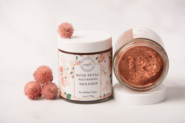 Rose Petal Rejuvenating Face Scrub