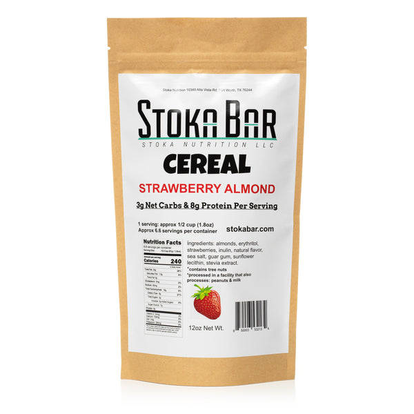 Strawberry Almond Stoka Bar Cereal