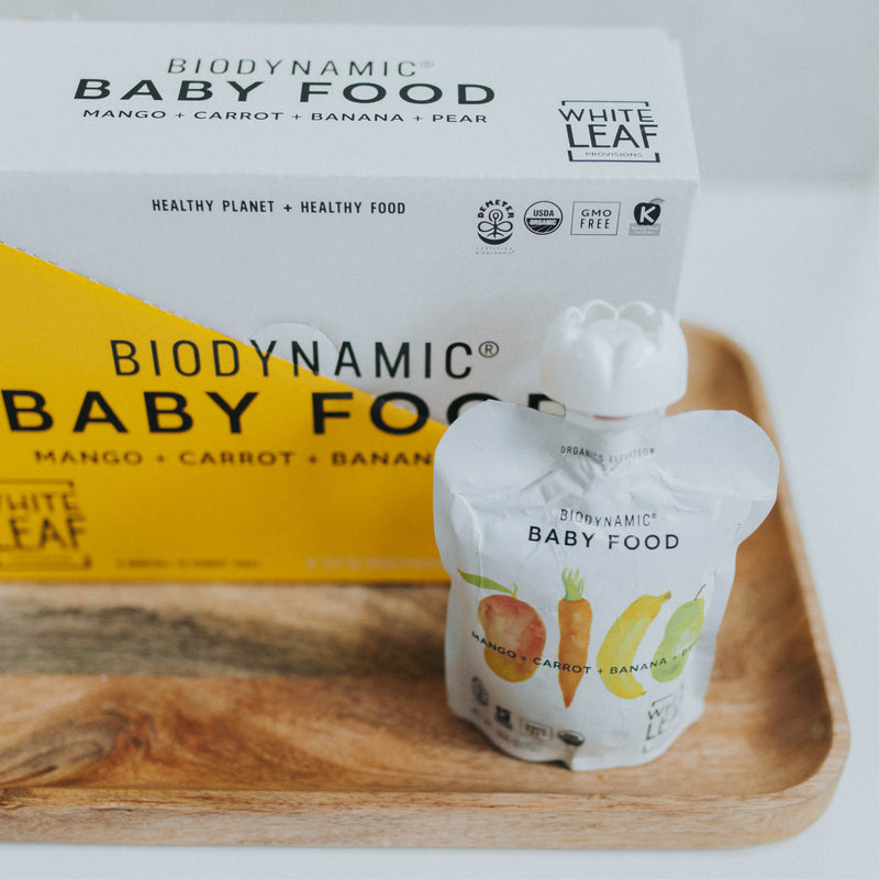 Biodynamic Organic Baby Food Mango + Carrot + Banana + Pear —Carton 6 (90g) pouches