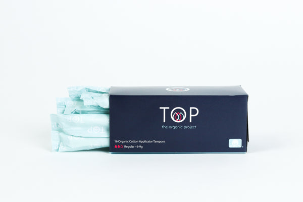 100% Organic Cotton Tampons with Cardboard Applicator