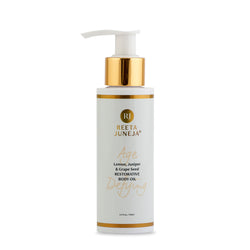 Age Defying Lemon, Juniper & Grape Seed Restorative Body Oil