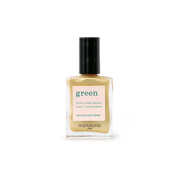 Green nail lacquer - Gold Sand