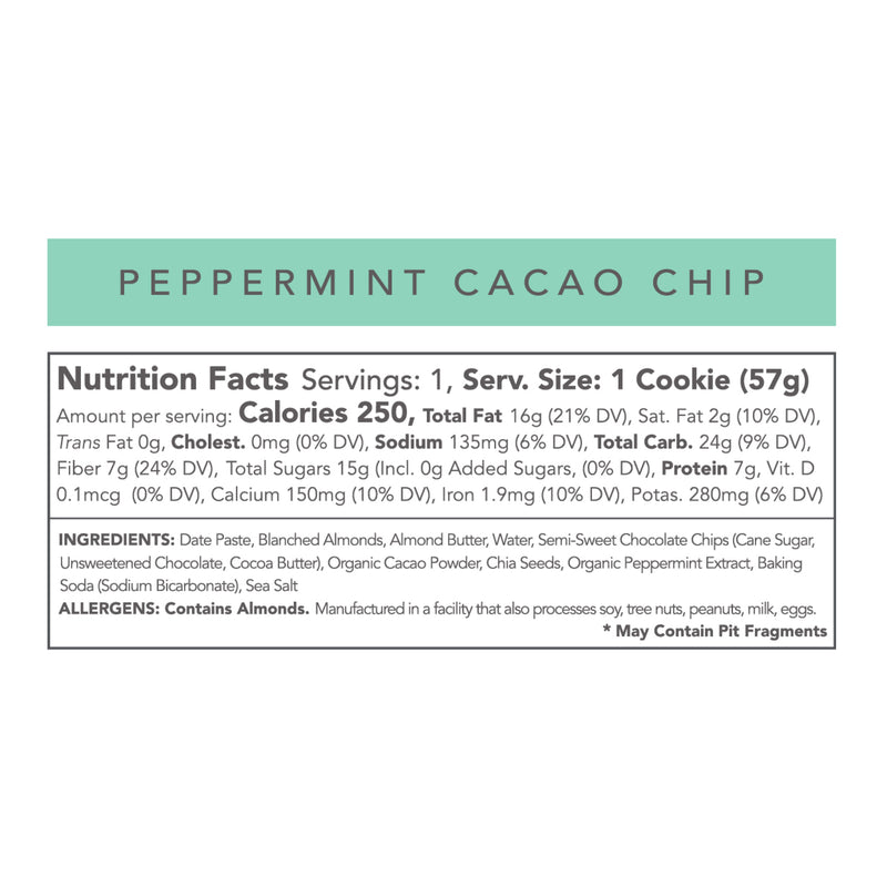 Limited Edition Peppermint Cacao Chip Cookie - 12 Pack