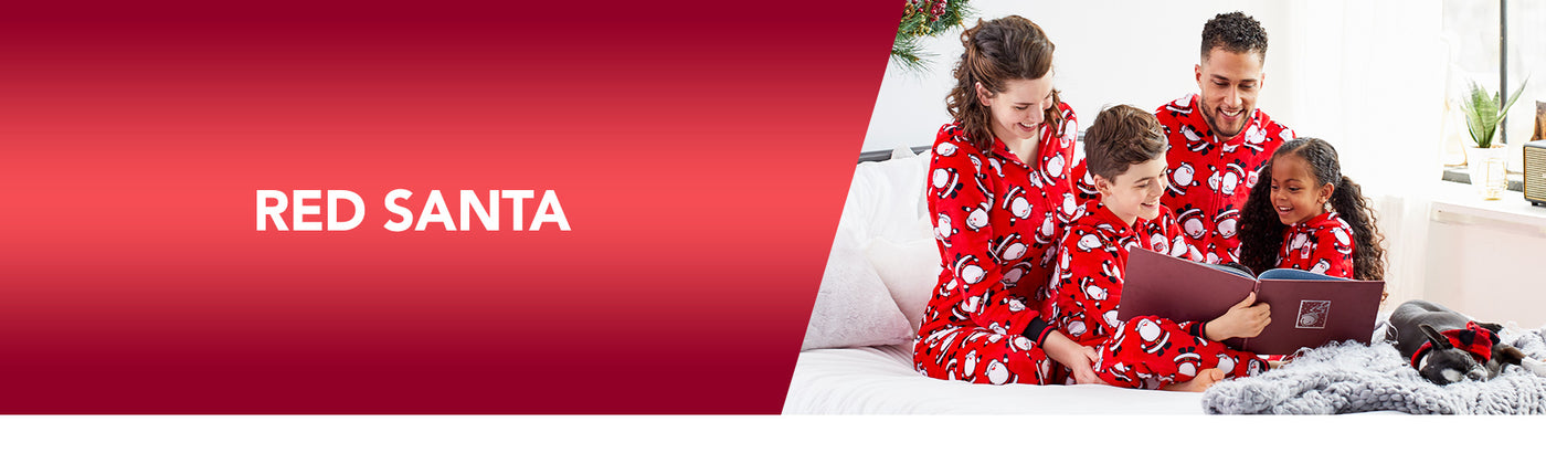 Red Santa Family Christmas Pajamas