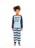 Family Holiday Pajamas, Girls 2-Piece Pajama Set with Mug, Winter Wonderland