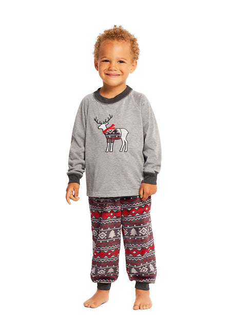 Christmas Matching Family Pajamas - Cabin Cozy - 2 Piece PJ Set - Boys