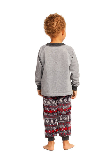 Christmas Matching Family Pajamas - Cabin Cozy - 2 Piece PJ Set - Toddlers