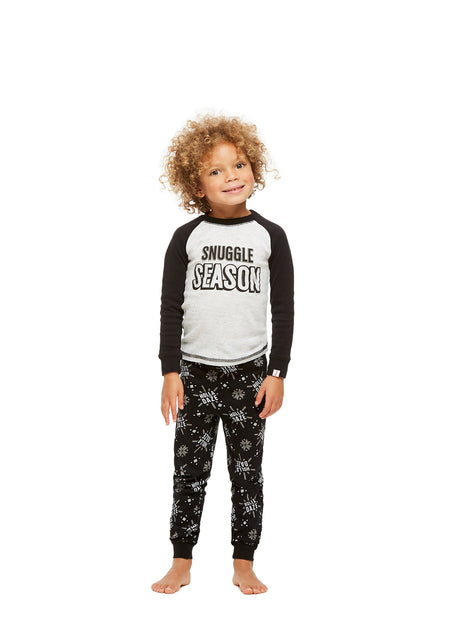 Family Holiday Pajamas, Boys 2-Piece Pajama Set with Door Knob Sign, Holla Daze