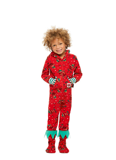 Family Pajamas, Holiday Set, Kids Unisex Onesie, Red Fun, by Jammin Jammies