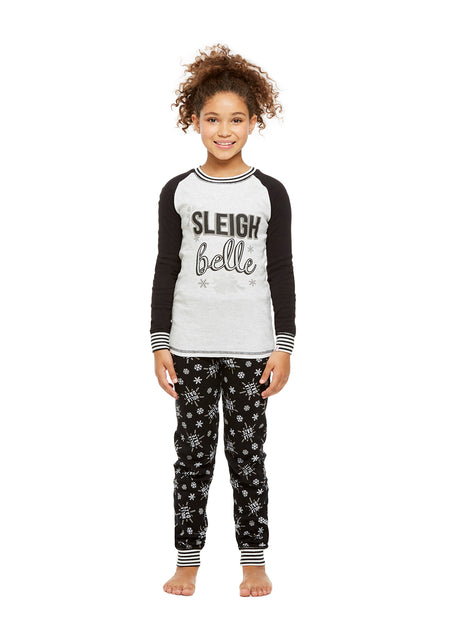 Family Holiday Pajamas, Toddlers 2-Piece Pajama Set with Door Knob Sign, Holla Daze