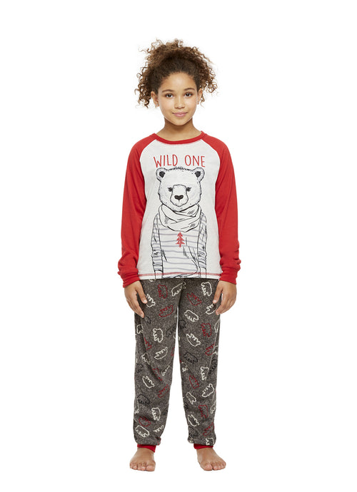Girls 2-Piece Pajama Set (Bear)