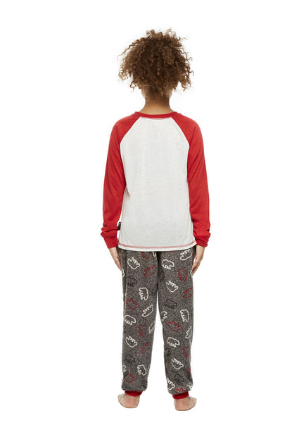 Family Holiday Pajamas, Girls 2-Piece Pajama Set with Knit Hat, Bearly Awake