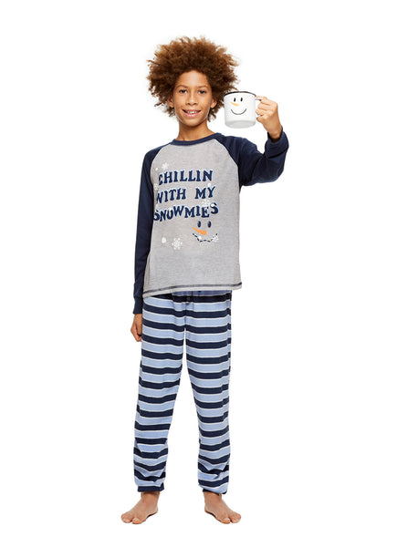 Family Holiday Pajamas, Boys 2-Piece Pajama Set, Winter Wonderland
