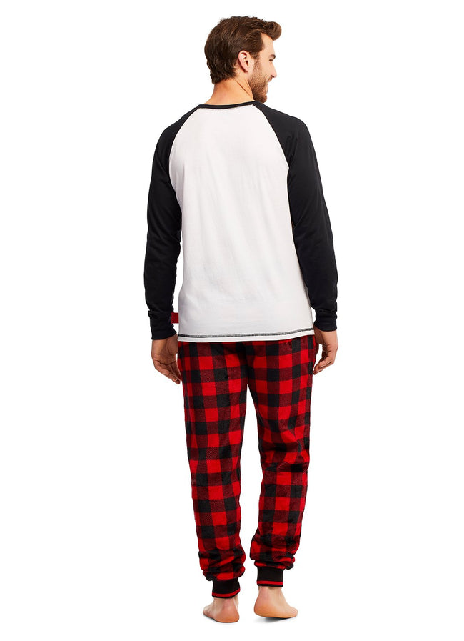 Mens 2 Piece PJ Set (Santa Claus)