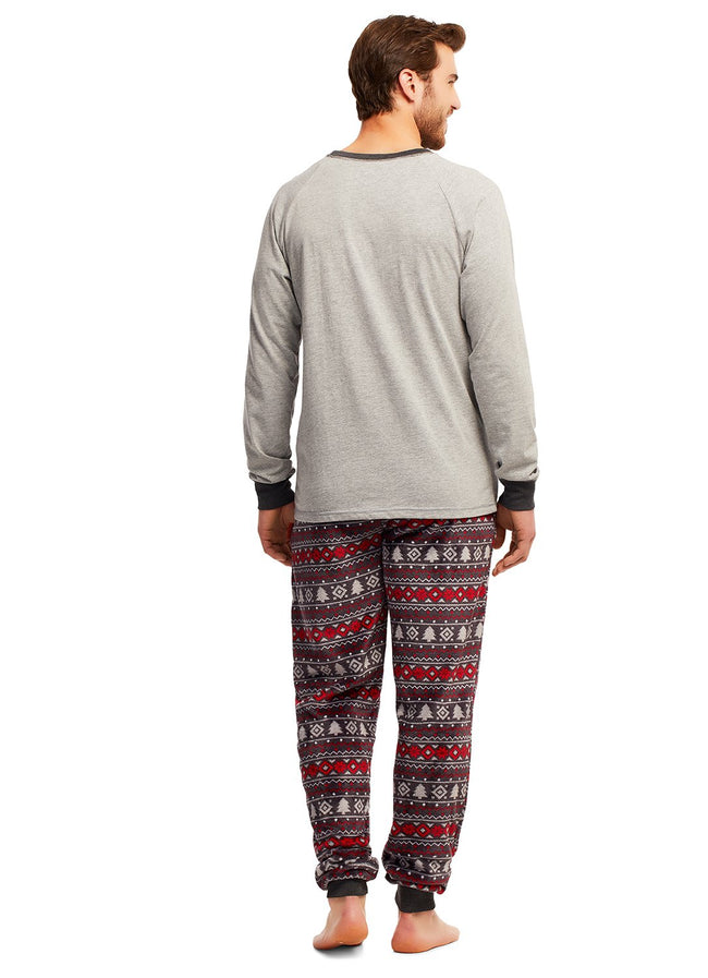 Christmas Matching Family Pajamas - Cabin Cozy - 2 Piece PJ Set - Mens