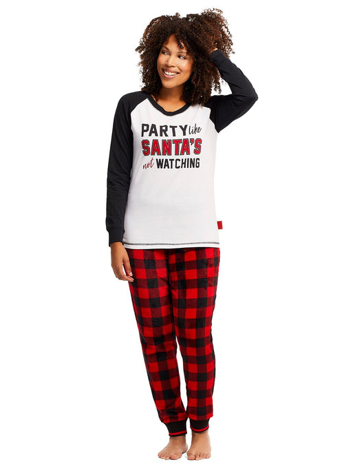 Womens 2-Piece PJ Set (Santa Claus)