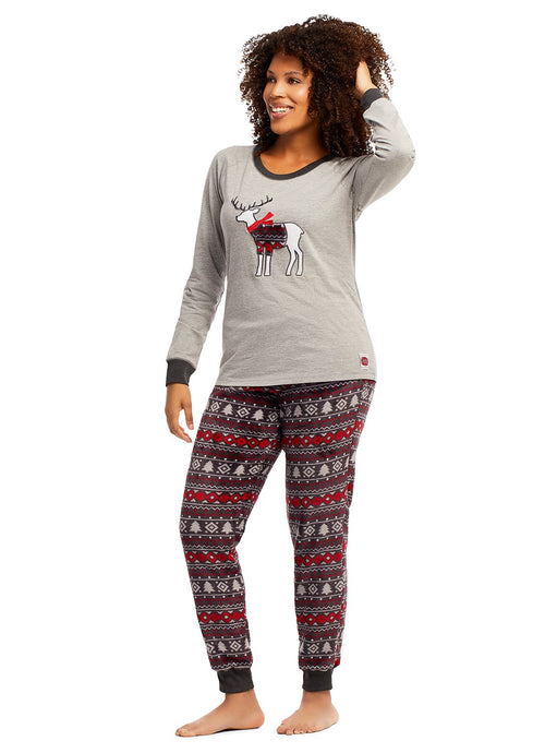 Womens 2-Piece PJ Set (Deer)