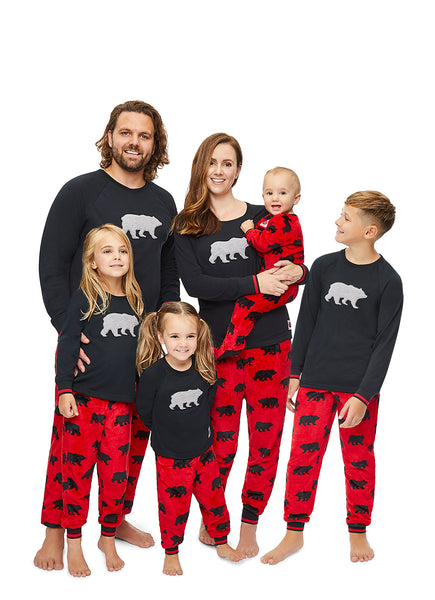 Christmas Matching Family Pajamas - Beary Merry - Girls 2-Piece PJ Set