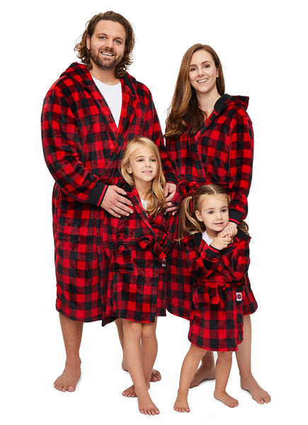 Family Let's Get Cozy Matching Robes - Womens Plaid Robe
