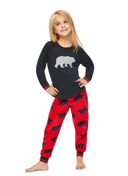 Girls 2-Piece PJ Set (Bear)