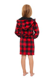Family Let's Get Cozy Matching Robes - Youth Plaid Robe