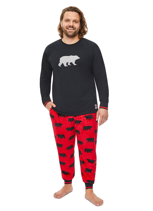 Mens 2-Piece PJ Set (Bear)