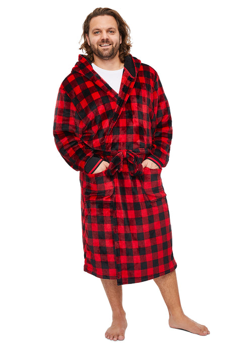 Mens Plaid Robe