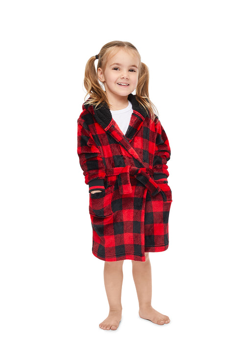Family Let's Get Cozy Matching Robes - Toddler Plaid Robe