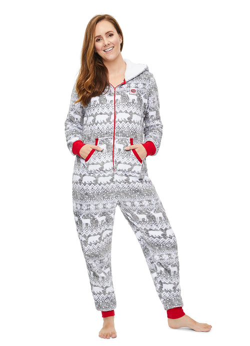 Christmas Matching Family Pajamas - Wild & Fairisle - Womens Onesie