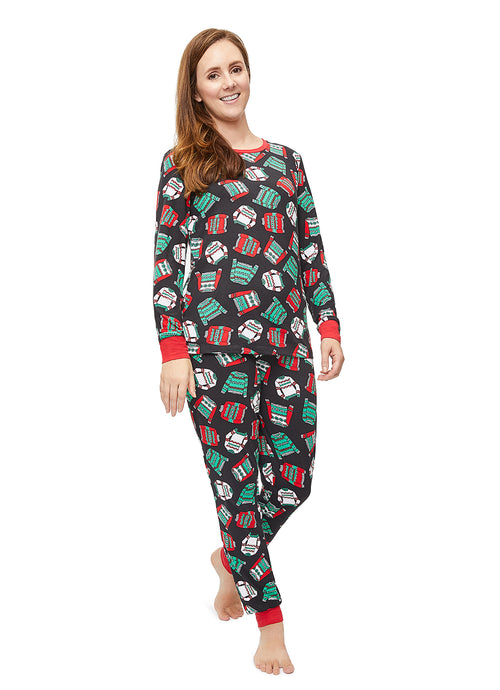 Womens 2-Piece PJ Set Ugly Sweater