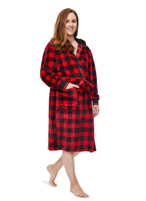 Womens Plaid Robe