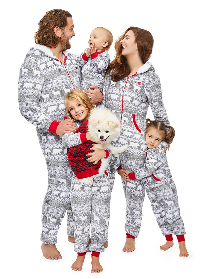Christmas Matching Family Pajamas - Wild & Fairisle - Kids Onesie