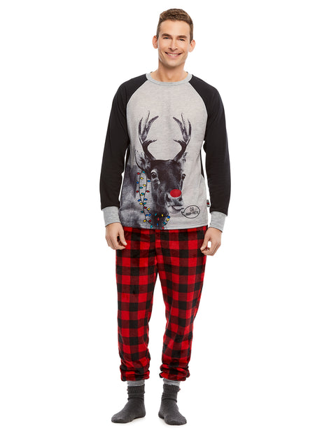 Family Holiday Pajamas, Mens 2-Piece Pajama Set with Mug, Winter Wonderland