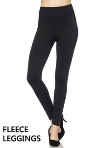 Fleece Leggings- Black