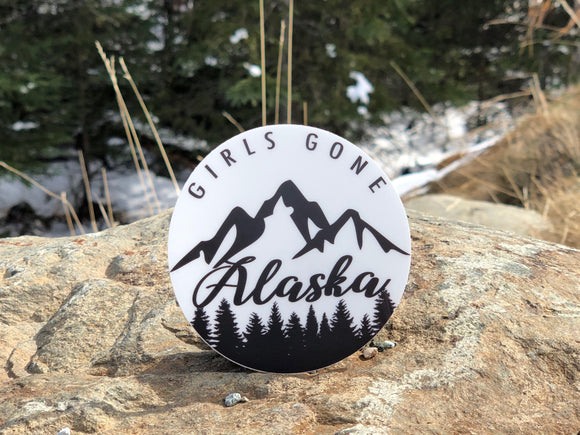 GSF- Girls Gone Alaska Sticker- Clear Background