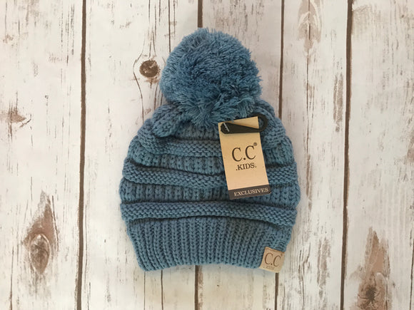 C.C. Pom Pom Beanie Kids, Denim