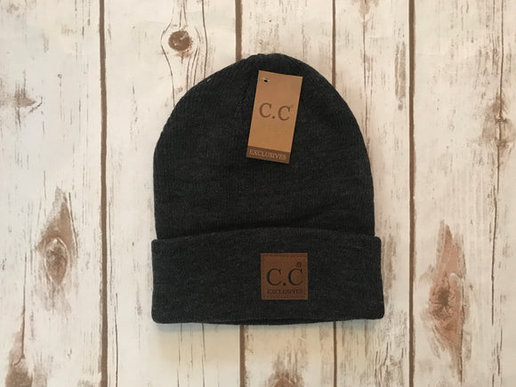 C.C. Basic Beanie, Dark Grey