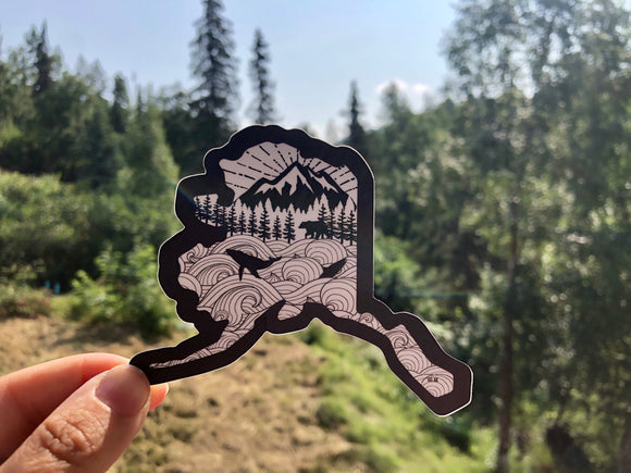 GSF- Alaska Shape Sticker