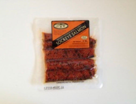Smoked Salmon- Black Pepper Strips 4oz