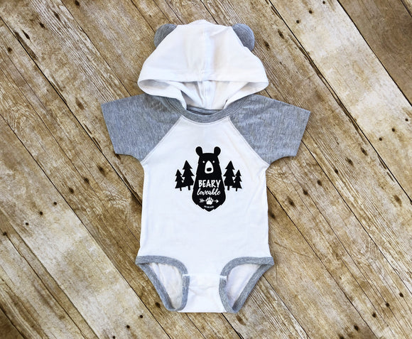 GSF- Bear Ear Bearly Loveable Onesie