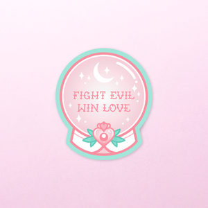 STICKER | FIGHT EVIL, WIN LOVE CRYSTAL BALL