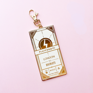 KEYCHAIN | HOGWARTS EXPRESS TICKET WHITE