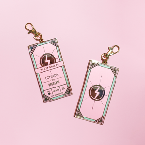 KEYCHAIN | HOGWARTS EXPRESS TICKET PINK + MINT