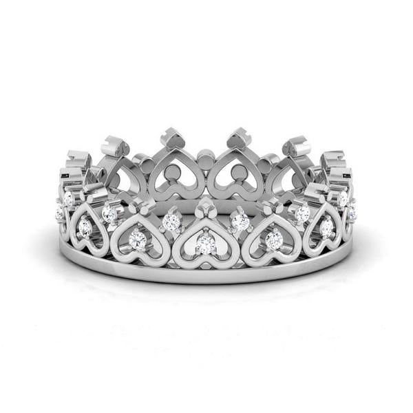 The Crown of Hearts Platinum with Diamond Ring JL PT 555
