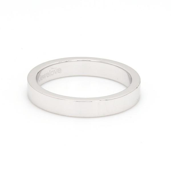 3mm Flat Platinum Wedding Band JL PT 223 - Flat