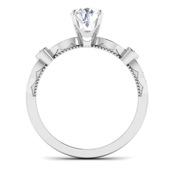 Circle View of Designer 30 Pointer Platinum Diamond Solitaire Engagement Ring JL PT 6581