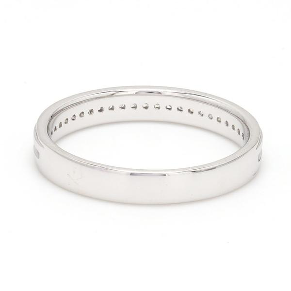Half Eternity Platinum Ring for Women with Milgrain FInish Back View JL PT 524